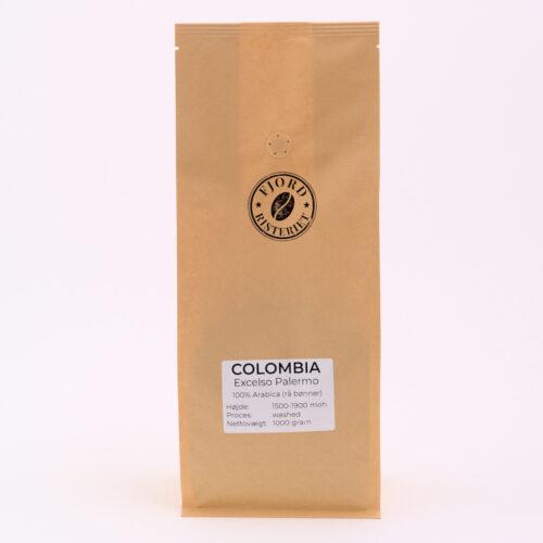 Colombia rå kaffe